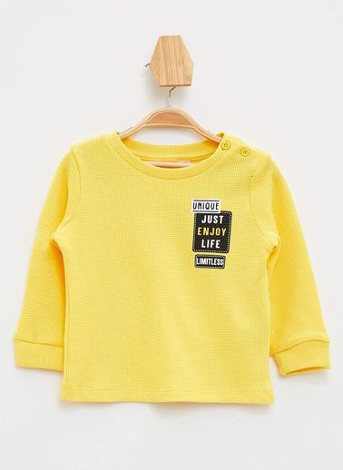 DeFacto Erkek Bebek Baskılı T-shirt Sarı